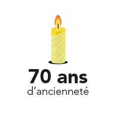 70 ans d'ancienneté