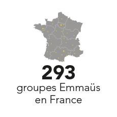 293 groupes Emmaüs en France