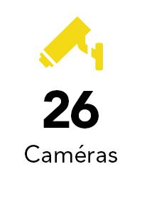 26 caméras
